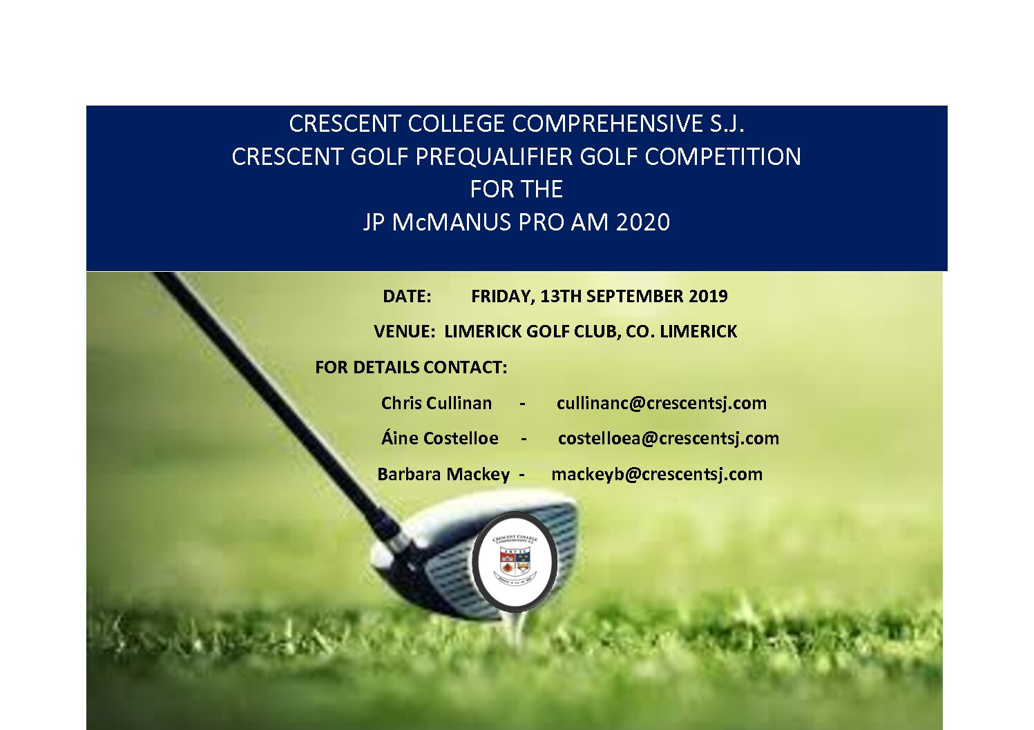 CRESCENT GOLF PREQUALIFIER GOLF COMPETITION FOR THE JP McMANUS PRO AM 2020